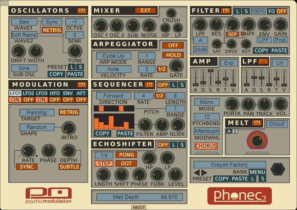 Psychic Modulation: Phonec VST/AU Synthesizer