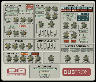 Dubtron Dub Bass Synth